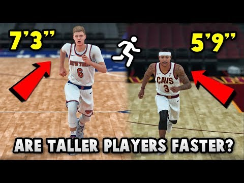 Are TALLER Players FASTER In NBA 2K18?? *EXPERIMENT* | NBA 2K18 SPEED TEST!!