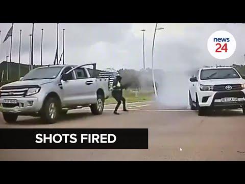 WATCH   Armed men fire shots at courier van delivering cellphones in Pretoria