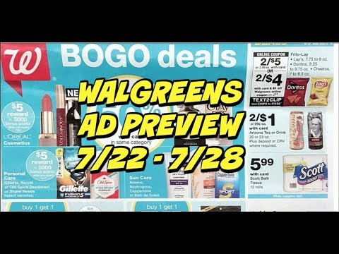 WALGREENS AD PREVIEW 7/22 - 7/28