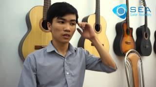 """Câu chuyện SEA Guitar: Học viên """"tranh thủ"""" từng giờ học - Trần Quang Nguyên Phong"""