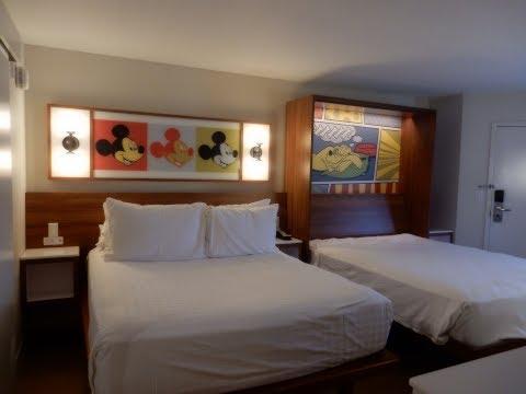 Disney World POP CENTURY Resort REMODELED ROOM Tour & Review