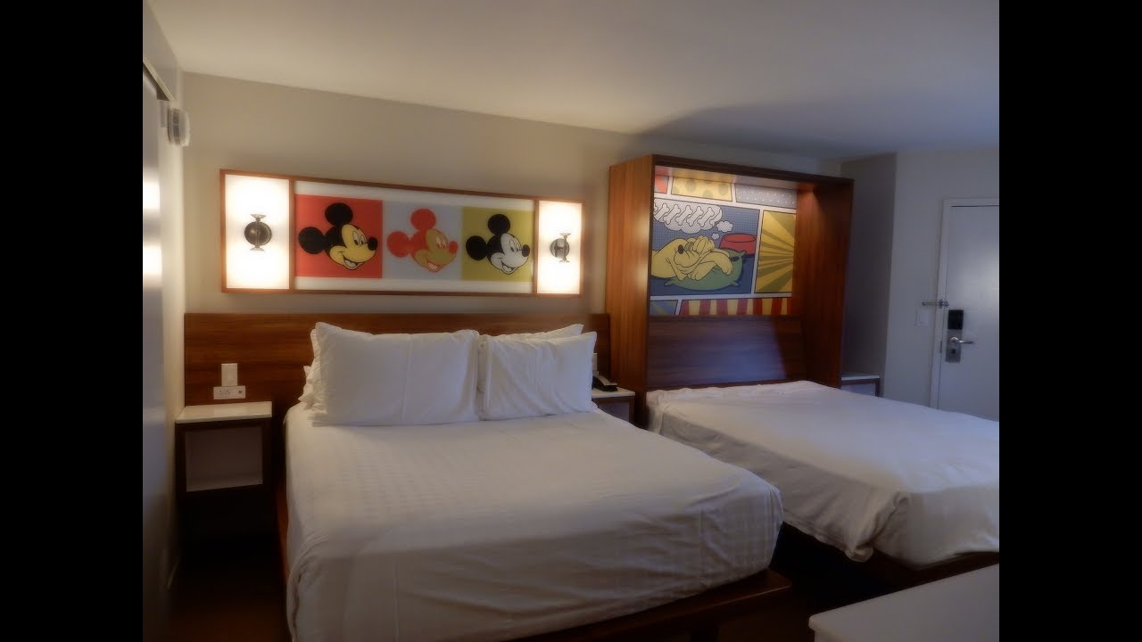 Disney World POP CENTURY Resort REMODELED ROOM Tour Review