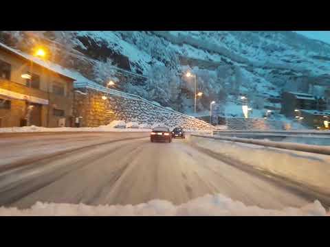Accidentes por la nieve entre Encamp  y Canillo-Accidents due to snow between Encamp and Canillo