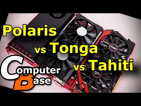 Polaris vs Tonga vs Tahiti at Same Clock Speed (via ComputerBase)