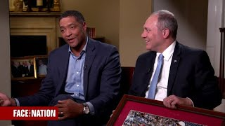Reps. Steve Scalise and Cedric Richmond reminisce on the annual congressional baseball match