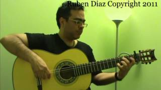 flamencoguitarlessons.eu/  Presents:  Falseta 3 por Buleria Advanced Flamenco Guitar Ruben Diaz