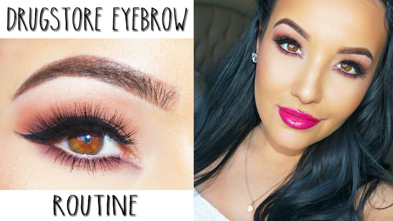 Drugstore Eyebrow Routine Easy Affordable Youtube