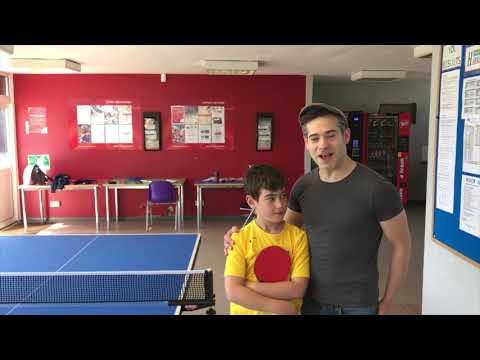 Table Tennis Training Session with Nicholas Li