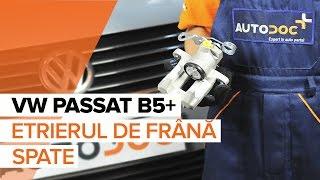 Cum se inlocuiesc etrierul de frână spate pe VW PASSAT B5+ [TUTORIAL]