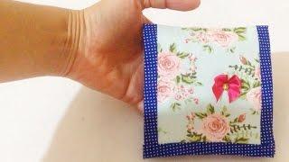 Como Fazer Porta Batom de Tecido Sem Costura – Artesanatos DIY