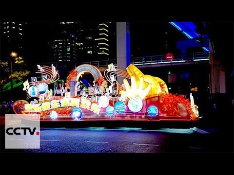 Parade attracts tourists for Shanghai opening ceremony