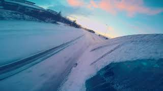 Iceland//Hvammstangi//#Winter Sunrise Drift [Benz C230]