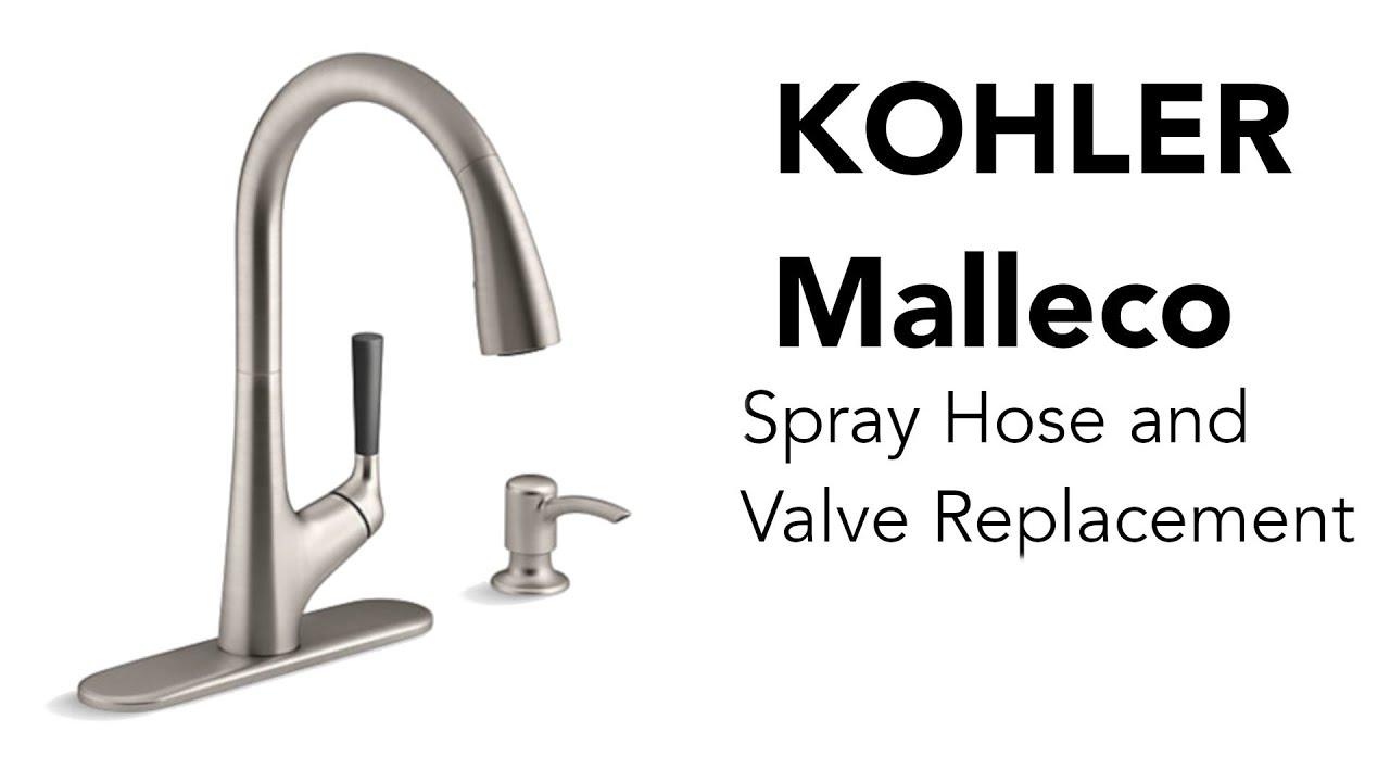 kohler malleco pull down kitchen sink faucet repair
