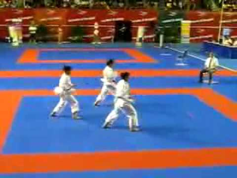 Karate Sea Games 2011   Vietnam   Team Female   Kata Aanan Travel Video