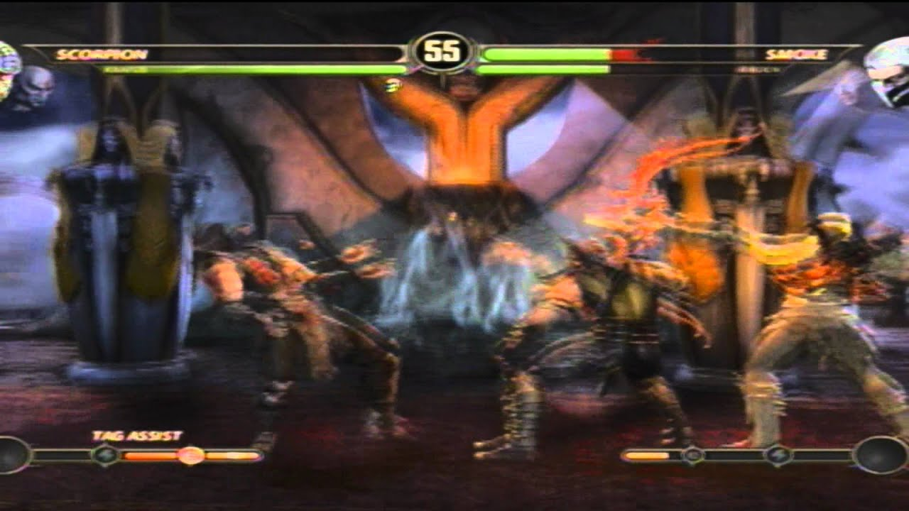 Mortal Kombat 9 Arcade TagTeam ( Scorpion / Kratos ...
