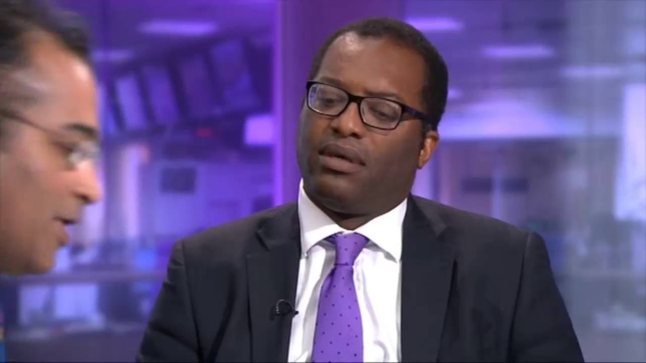 Image result for Ken Loach and Kwasi Kwarteng on channel 4 News