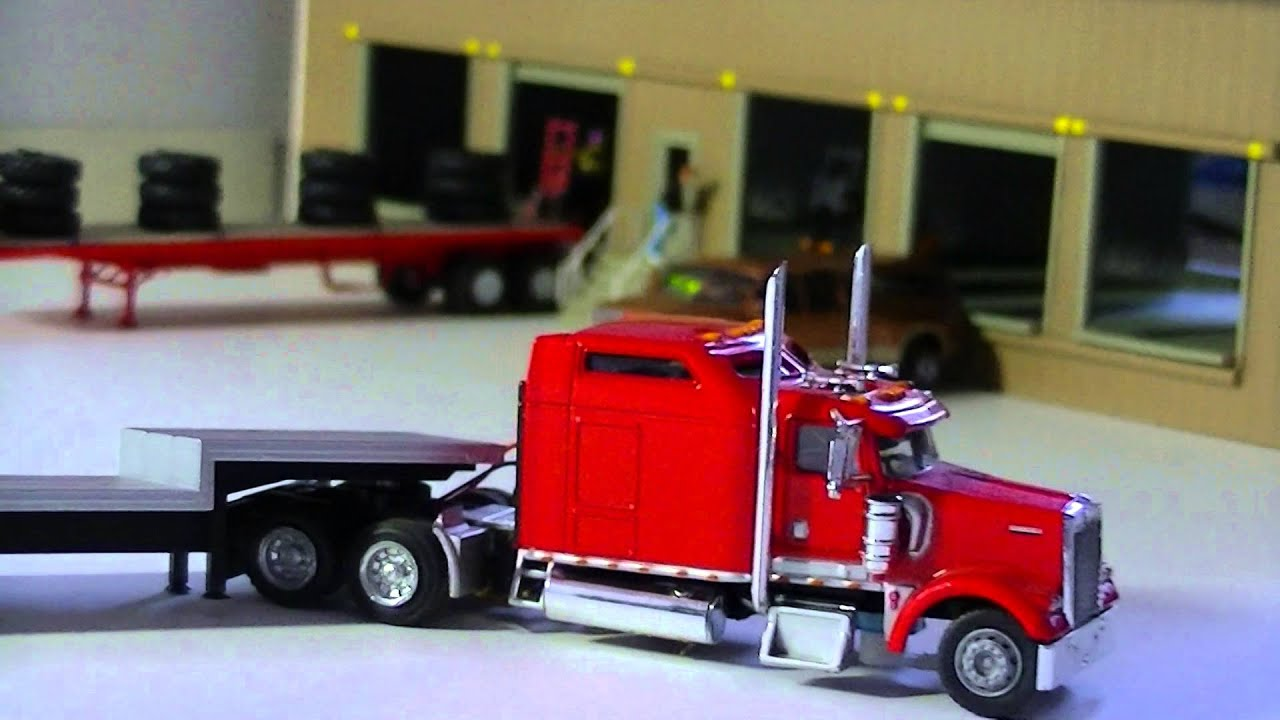 rc ford dually 1 87 scale ho scale kenworth w900 youtube. Black Bedroom Furniture Sets. Home Design Ideas