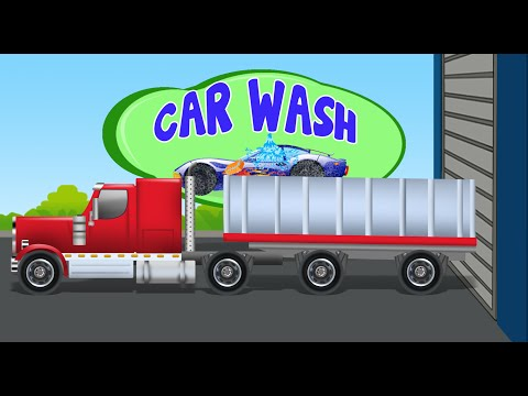 grain truck | car wash | kids car cartoon video