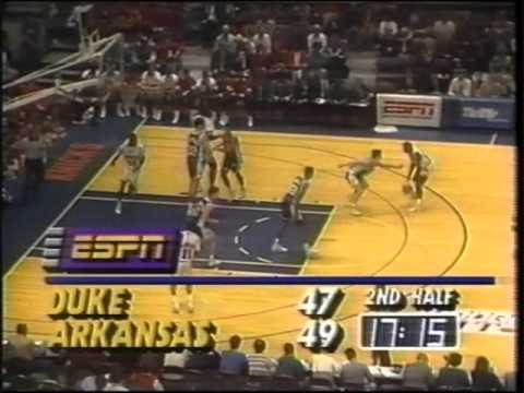 Arkansas vs. Duke 11/21/1990