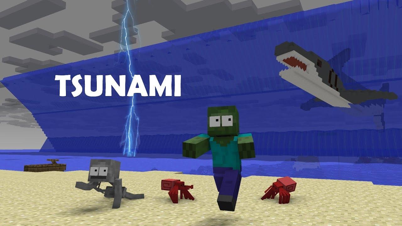 Monster School : TSUNAMI - Minecraft Animation