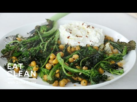 Roasted Broccoli Rabe with Ricotta Spread Eat Clean with Shira Bocar