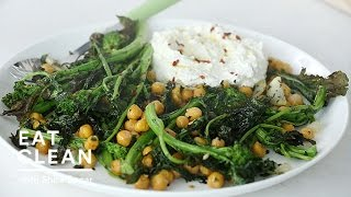 Roasted Broccoli Rabe with Ricotta Spread - Eat Clean with Shira Bocar