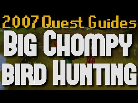 Runescape 2007 Quest Guides: Big Chompy Bird Hunting