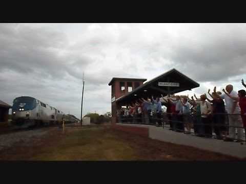 Train Viewing Platform Plant City Florida Opening Ceremony