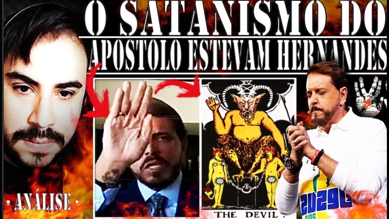 SATANISMO do APÓSTOLO ESTAVAM HERNANDES e GESTO ao LADO de BOLSONARO - O QUE SIGNIFICA??