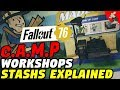 Fallout 76 Camps, Blueprints, Workshops, Stash's And Crafting Explained