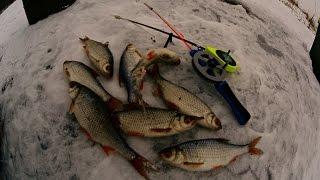Ловля плотвы и окуня зимой на реке | Зимняя рыбалка | Клев рыбы(Всем привет. В этот раз я #рыбачил на реке, а что за #река вы узнаете из слов сказанных в #видео. Целью данной..., 2016-12-12T19:06:36.000Z)