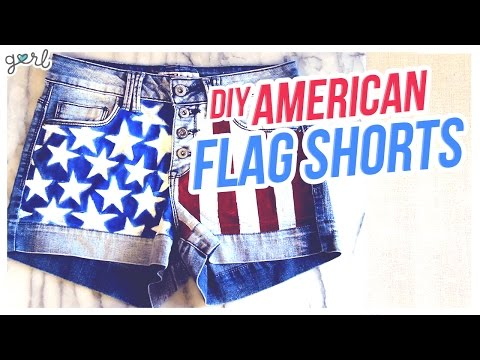 DIY American Flag Shorts – Do It, Gurl