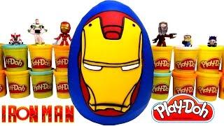 Yenilmezler Demir Adam (Iron Man) Sürpriz Yumurta Oyun Hamuru - Avengers Ironman Oyuncakları