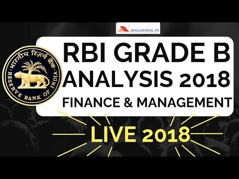 RBI Grade B 2018 PAST YEAR ANALYSIS   Phase 2 FINANCE & MANAGEMENT   Questions asked in RBI GRADE B