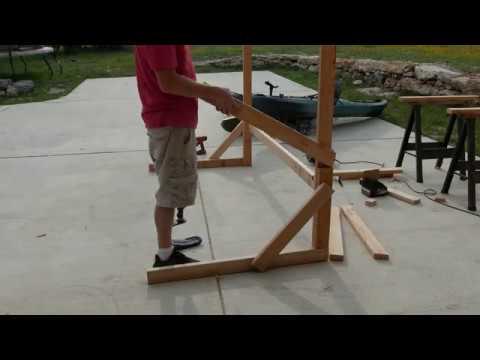 Kayak Rack made from scrap wood DIY