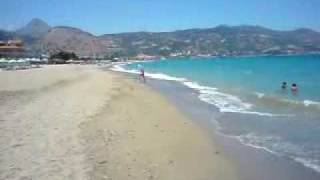 Ammoudara Beach on the island of Crete (pláž Amoudara na ostrově Kréta)