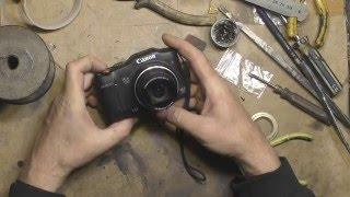 Ремонт объектива цифрового фотоаппарата(Держатель штоки объектива был закреплен на двухстороннем скотче и этого оказалось не достаточно. Шторка..., 2016-04-16T21:17:52.000Z)