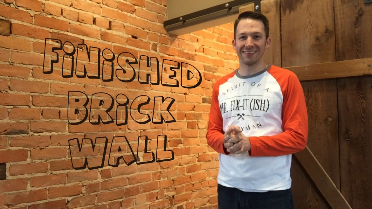How To Almost Clean A Brick Wall Correctly -What I learned