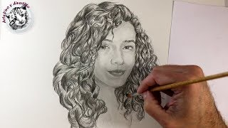 How to Draw Realistic Curly Hair with Pencil Step by Step