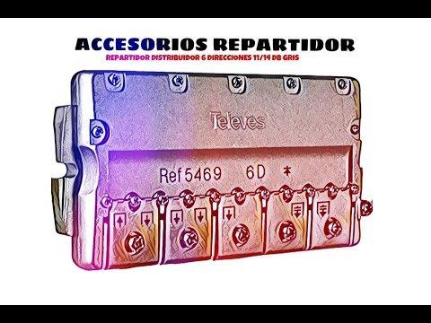 Video de Repartidor distribuidor 6 direcciones  11/14 dB  Gris