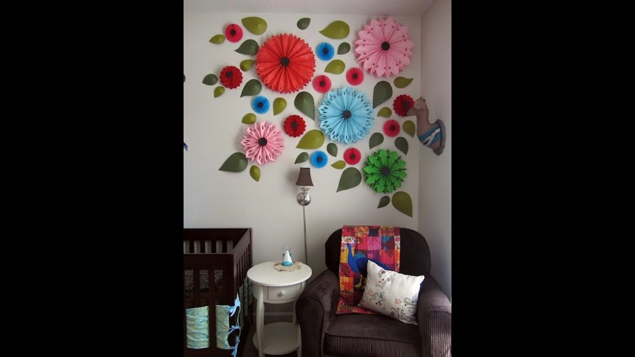 Diy Creative Wall Art Design Ideas To Decorate Your Space Youtube