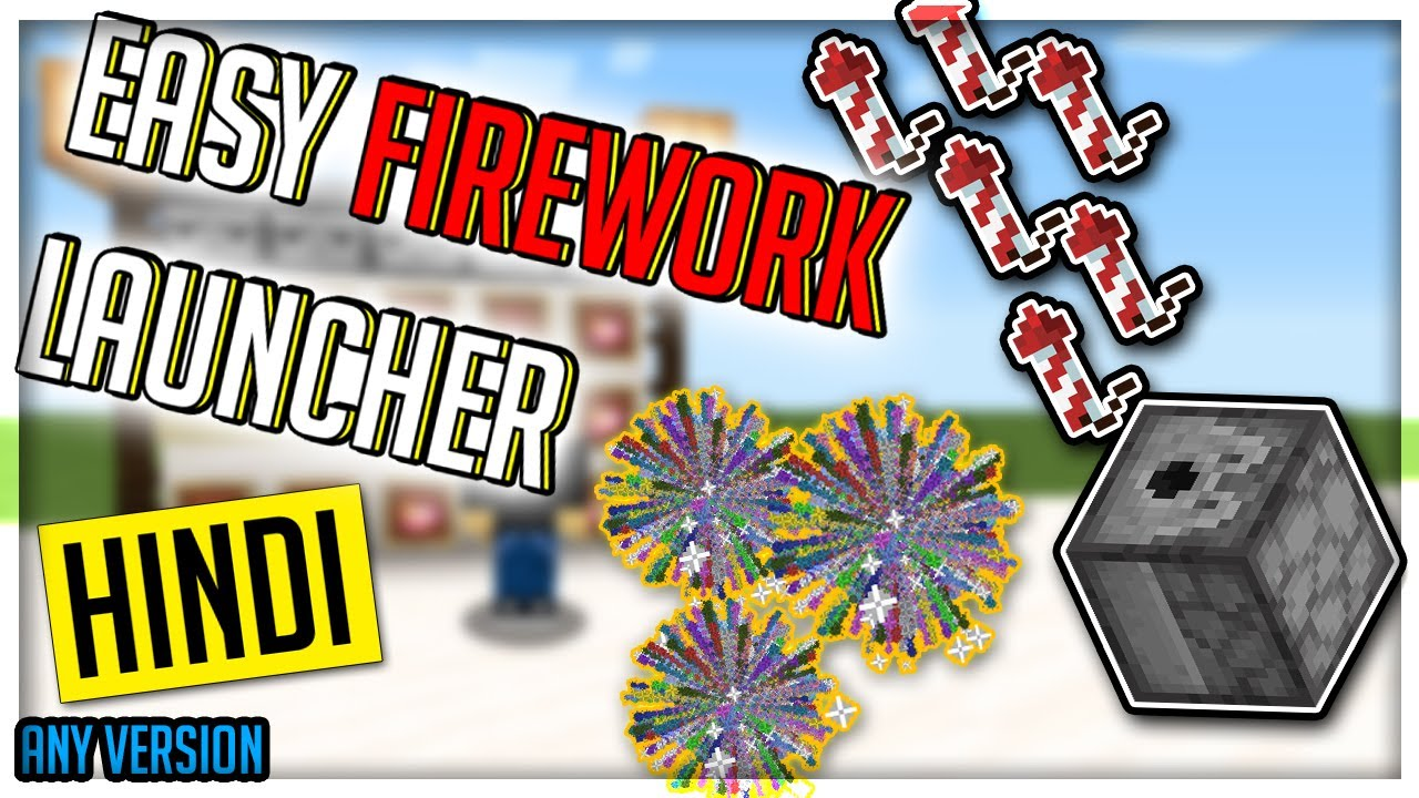 How to make a Firework Launcher in Minecraft easily   Minecraft firework launcher tutorial Hindi