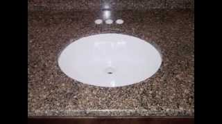 Charlotte Granite Countertops-desert Brown-dark Wood Kitchen- 2 6 12