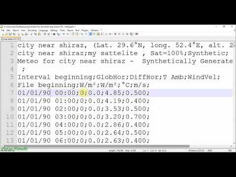 pvsyst-tutorial:-part7-databases-import-ascii-meteo-files