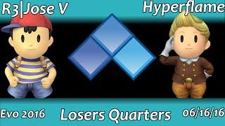PM At Evo 2016: Hyperflame (Lucas) vs Jose V (Ness) Losers Quarters