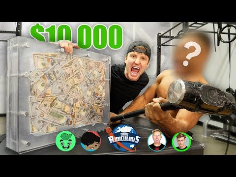$10000 IF ANY R CAN BREAK THE BOX UNBREAKABLE GLASS CHALLENGE