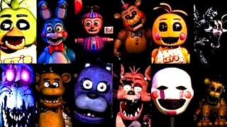 evolution of five nights at freddy s all jumpscares 1 4