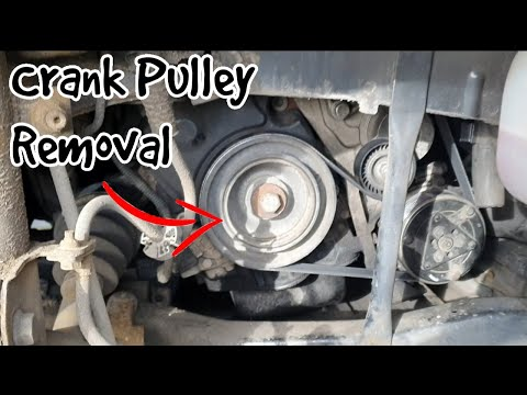 How To Replace Crank Pulley On Peugeot Expert.