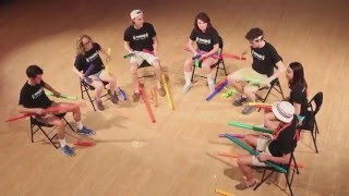 Here Comes the Sun, Walking on Sunshine, and Sweet Child O' Mine on Boomwhackers! (Spring 2016)
