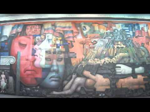 """Mural """"Presencia de América Latina"""" por Jorge González Camarena (Concepción - Chile)"""